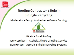 Roofing Contractor's Role in Shingle Recycling