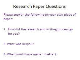 interview questions research paper Moreover, weisberg was able to point me towards other resources i will be able to use to research my paper sample interview write-up.