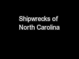 Shipwrecks of North Carolina