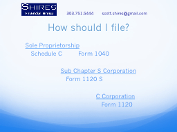 How should I file? PowerPoint PPT Presentation