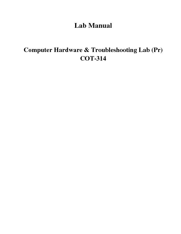 ware & Troubleshooting Lab (Pr)