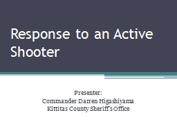Response to an Active Shooter PowerPoint PPT Presentation