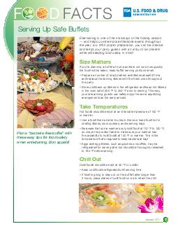 EASY TIPS FOR FOOD SAFETY WHEN ENTERTAINING Entertaining is one of the mainstays of the holiday season  and helps commemorate milestone events throughout the year too