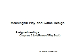 Meaningful Play and Game Design