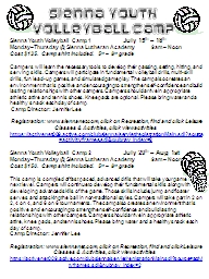 Sienna Youth Volleyball Camp 1