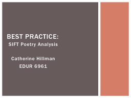 SIFT Poetry Analysis
