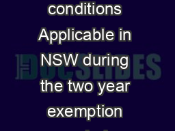 Bull bar tolerances and conditions Applicable in NSW during the two year exemption period September   Version