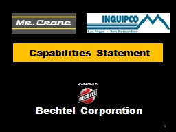 Capabilities Statement