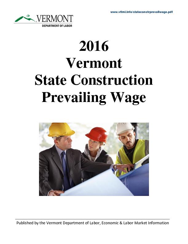 State Construction Prevailing Wage
