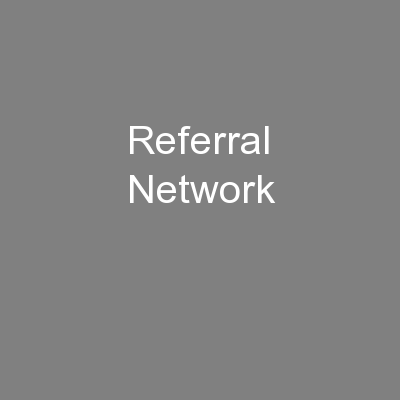Referral Network PowerPoint PPT Presentation