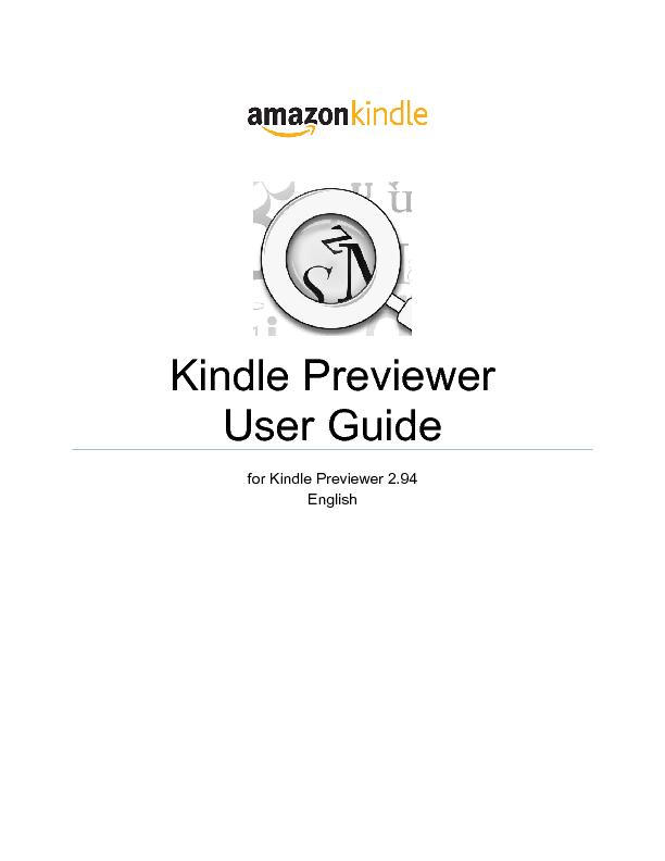 Kindle Previewer 2.9