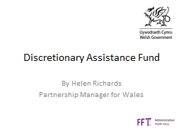 Discretionary Assistance Fund PowerPoint PPT Presentation