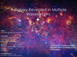 A Galaxy Revealed in Multiple Wavelengths PowerPoint PPT Presentation