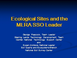 Ecological Sites