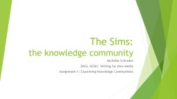 The Sims PowerPoint PPT Presentation