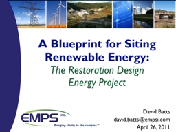 A Blueprint for Siting Renewable Energy: PowerPoint PPT Presentation