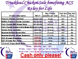 Truckload Chicken Sale benefiting ACS