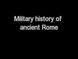 Military history of ancient Rome