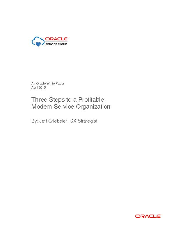 From Cost Center to Profit Center In a Modern Support Organization ...