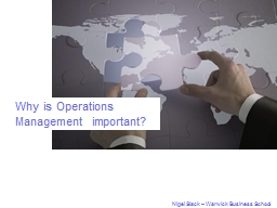 Why is Operations Management important?