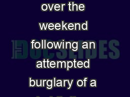 Four people were arrested over the weekend following an attempted burglary of a habitation authorities siad PowerPoint PPT Presentation