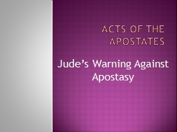 Acts of the apostates