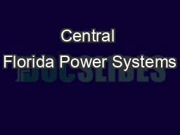 Central Florida Power Systems