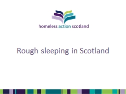 Rough sleeping in Scotland