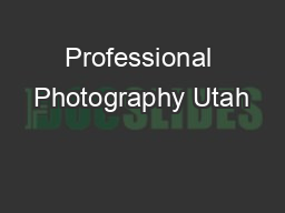 Professional Photography Utah
