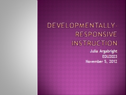 Developmentally-