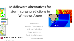 Middleware alternatives for storm surge predictions in Wind