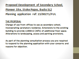 Proposed Development of Secondary School,