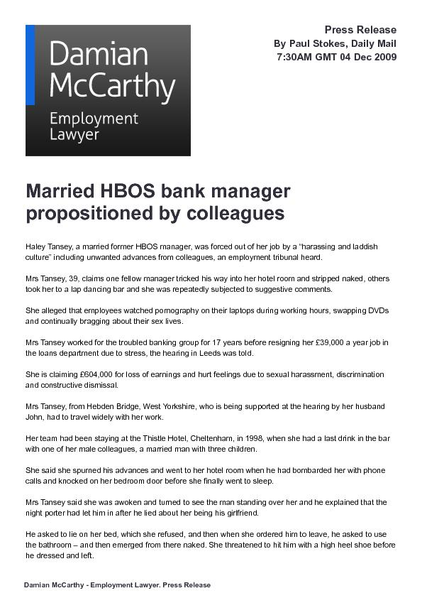 Married HBOS bank manager
