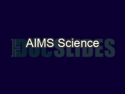 AIMS Science