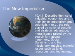 The New Imperialism PowerPoint PPT Presentation