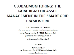 GLOBAL MONITORING: THE PARADIGM FOR ASSET MANAGEMENT IN THE