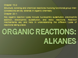 Organic REACTIONS: PowerPoint PPT Presentation