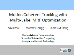 Motion Coherent Tracking with