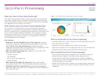What Is the Value of Cisco Prime Provisioning?
