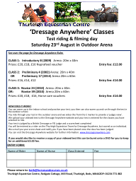 'Dressage Anywhere' Classes