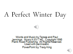 A Perfect Winter Day