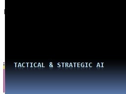 Tactical & Strategic AI PowerPoint PPT Presentation