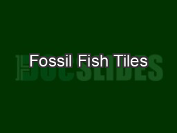 Fossil Fish Tiles