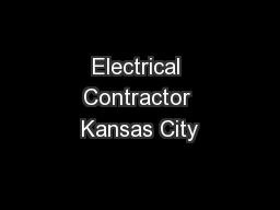 Electrical Contractor Kansas City