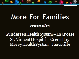More For Families