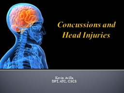 Concussions and Head Injuries PowerPoint PPT Presentation