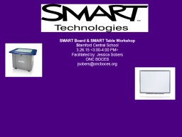 SMART Board & SMART Table Workshop