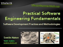 Practical Software Engineering Fundamentals PowerPoint PPT Presentation