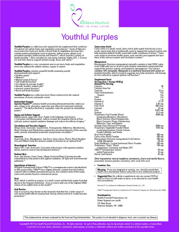 Youthful Purples is a delicious anti-aging drink mix supplement that c