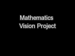 Mathematics Vision Project PowerPoint PPT Presentation